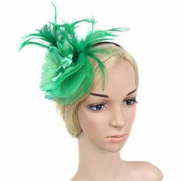 Coxeer Womens Feather Mesh & Flowers Fascinator Headbands Hair Accessories for Wedding Tea Party