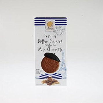 Pierre Biscuiterie French Butter Cookies, Milk Chocolate, 135g