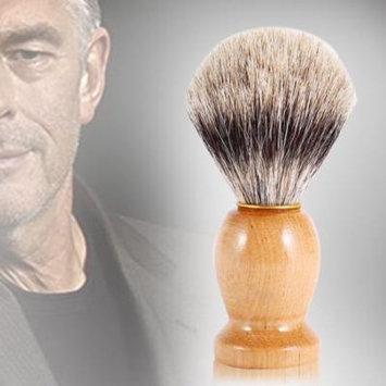 1Pc Men's Professional Wooden Beard Shaving Brush Facial Cleaning Brush Barber Salon Tool Handle Shaving Brush Faux Badger Hair Barber Beauty Tool