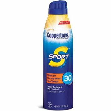 2 Pack - Coppertone Sport Continuous Spray Sunscreen SPF 30 5.5 oz