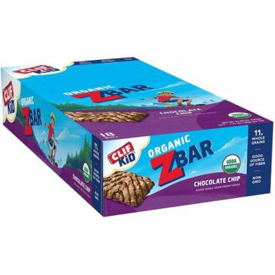 Clif Kid Zbar - Organic Energy Bar - Chocolate Chip - Baked Whole Grain Energy Snack Bar (1.27 Ounce Snack Bar, 18 Count) - (Free Shipping)