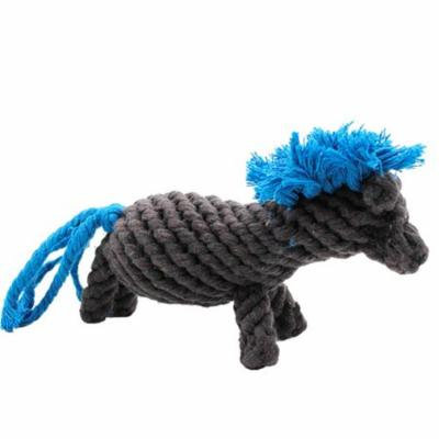 Dog Rope Toy Pony Shape Bite Resistant Interactive Training Cotton Dog Chew Toys Teeth Cleaning Toys for Pets
