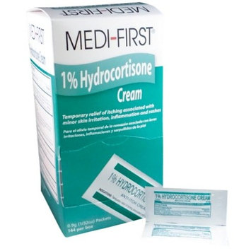 Hydrocortisone Cream 1% Temporary Relief of Itching (144 / Bx) 6 Boxes (864 packets) by Medique - MS60730