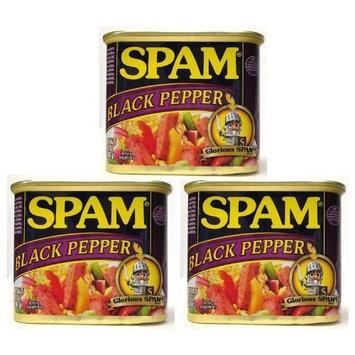 Spam Black Pepper Flavor - 3 Cans O 12 Oz