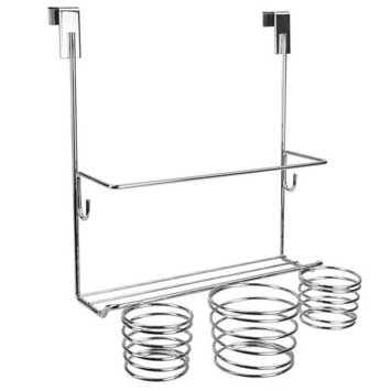 Home Basics 6.25 in. Over-the-Cabinet Hair Tool Organizer