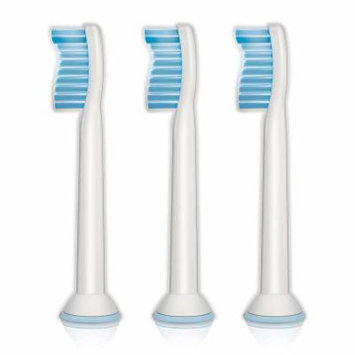 Philips Sonicare HX6053/64 Sensitive Standard Toothbrush Heads, 3-Pack