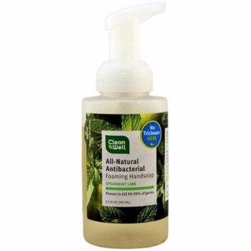 2 Pack - CleanWell Foaming Hand Wash, Spearmint Lime 9.5 oz