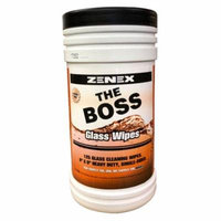 Zenex The Boss Glass Cleaner Towels - 125 Towels Per Canister - 1 Case (4 Canisters)