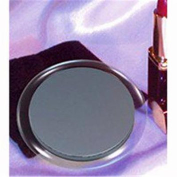 Magnification Purse Mirror with Pouch (5x Reverses To 1x)