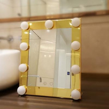 CNMODLE Portable Led Bulb Lighted Makeup Mirror With Dimmer Stage US Plug Mirror With Lights Beauty Mirror Decorative Mirror