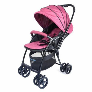 Wonderbuggy Nano Plus Ultralight Stroller With Reversible Handle And Foot Muff - Maroon Red