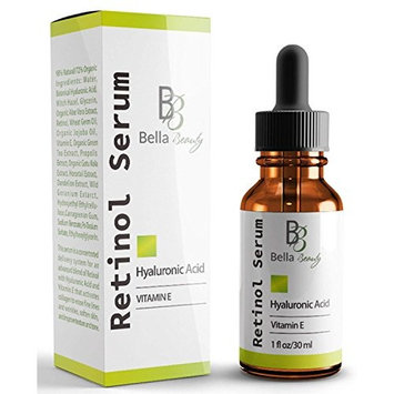 Anti Aging Hyaluronic Acid and Retinol Serum 2.5% for Face with Vitamin E For Oily Acne Skin - Best Retinol Facial Moisturizer - Reduce Fine Lines - Wrinkle - Dark Spots - Pure Organic Ingredients 1Oz