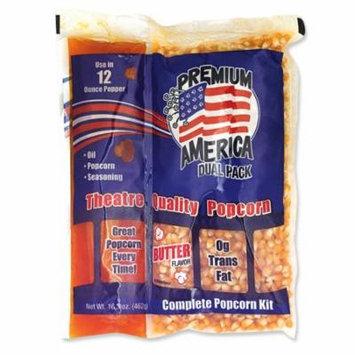 Great Western, Premium America Dual Pack Popcorn Kit 16.3 oz. (24 Count)