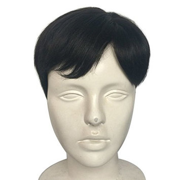 Namecute Short Men's Wig Full Synthetic Men Toupee Black