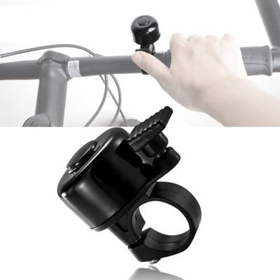 Insten Mini Alloy Ping Style Bicycle Bike Bell Ring Horn - Black