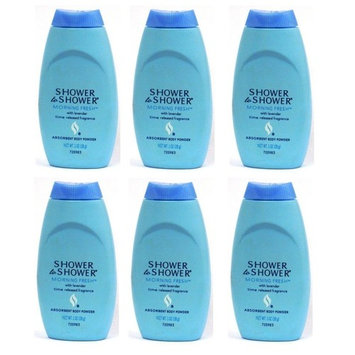 Shower To Shower Absorbent Body Powder Morning Fresh 1 Oz (6 Pack)