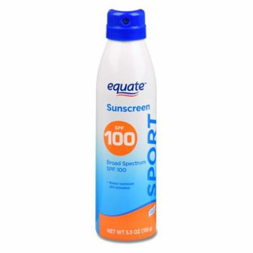 Equate Sport Continuous Spray Sunscreen, Broad Spectrum, SPF 100, 5.5 Oz