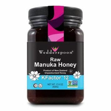 Wedderspoon 100 % Raw Manuka Honey KFactor 12, 17.6 oz, 3 Pack