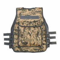 Qiilu Children Tactical Vest Combat Vest Nylon CS Game Molle Body Armor Vest For Children Gift for Boys Kids Fits Ages 8-14 Yrs