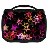 Stars Small Travel Toiletry / Cosmetic Case with 3 Compartments and Detachable Hanger