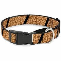 Buckle-Down MGC-W31265-L Leopard Brown Black Slash Martingale Dog Collar