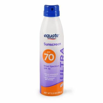 Equate Ultra Protection Continuous Spray Sunscreen, Broad Spectrum, SPF 70, 5.5 Oz