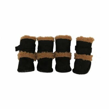 Black Shearling Duggz shoes - set of 4 - XS