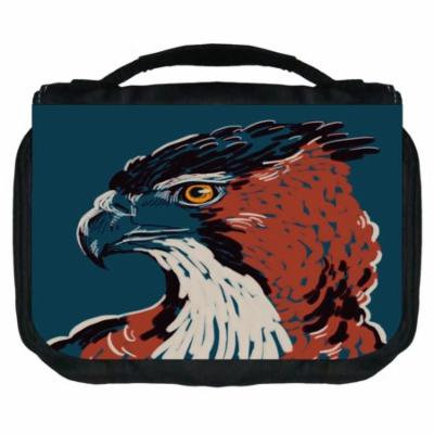 Eagle Small Travel Toiletry / Cosmetic Case with 3 Compartments and Detachable Hanger