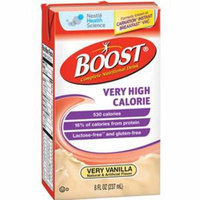 Boost VHC Oral Supplement, Very Vanilla, 8 oz. Carton - Pack of 6