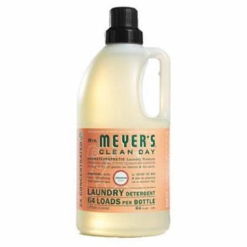 64 OZ 64 Loads MrsMeyer's Clean Day Laundry Detergent Geranium Scent C Only One