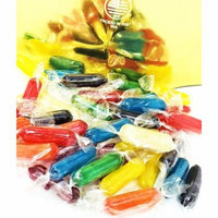 Assorted Fruit Flavored Candies - Rods Hard Candy - Wrapped 3 pounds bag
