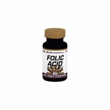 6 Pack Windmill Folic Acid 800 mcg Tablets 100 Each