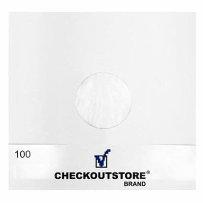50 CheckOutStore® Paper Record Inner Sleeves Polylined With Hole for 12
