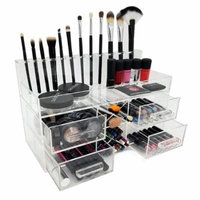 OnDisplay Acqua Luxury Handmade Acrylic Cosmetic/Makeup Organizer