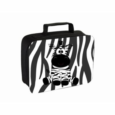 Zebra Small Travel Toiletry / Cosmetic Case with 3 Compartments and Detachable Hanger