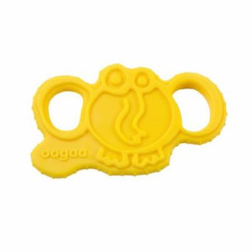 oogaa Home Elephant Teether Easy Clean, Baby Safe High-Grade Silicone, Yellow
