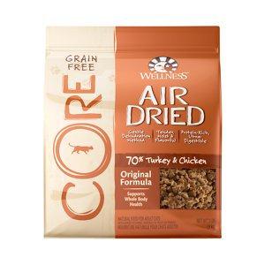 Wellness CORE Air Dried Natural Grain-Free Original Recipe Dry Cat Food, 2-lb bag