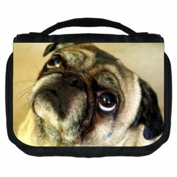 Pug Small Travel Toiletry / Cosmetic Case with 3 Compartments and Detachable Hanger