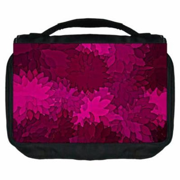 Small Travel Toiletry / Cosmetic Case with 3 Compartments and Detachable Hanger Flower Blossoms