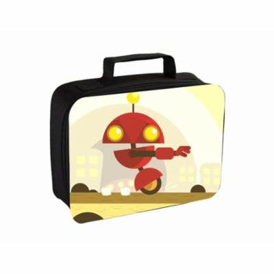 Robot Small Travel Toiletry / Cosmetic Case with 3 Compartments and Detachable Hanger