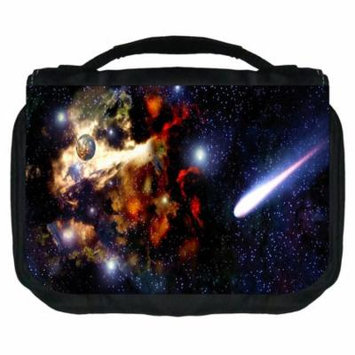 Galactic Small Travel Toiletry / Cosmetic Case with 3 Compartments and Detachable Hanger