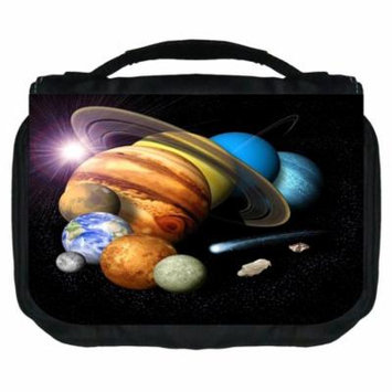 Planets Small Travel Toiletry / Cosmetic Case with 3 Compartments and Detachable Hanger