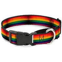Buckle-Down Flag Pride Distressed Rainbow Martingale Dog Collar