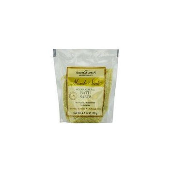 MUSCLE SOAK by Aromafloria - OCEAN MINERAL BATH SALT PACKET 4.5 OZ EUCALYPTUS, PEPPERMINT, AND LEMONGRASS - UNISEX