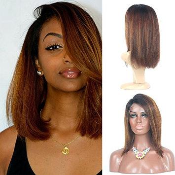 RosesAngel Glueless ombre Human Hair Bob Wigs for Black Women Highlights Bob Lace Front Wigs Brazilian Full Lace Human Hair Short Wigs 10