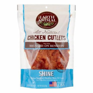 Earth Animal Shine Brushed-On Benefit Chicken Cutlets Dog Treats, 8 Oz