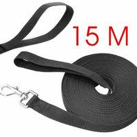 UEETEK 49 Feet Dog Obedience Leash/Training Agility Lead Leash Rope for Training Camping Backyard,(Black)