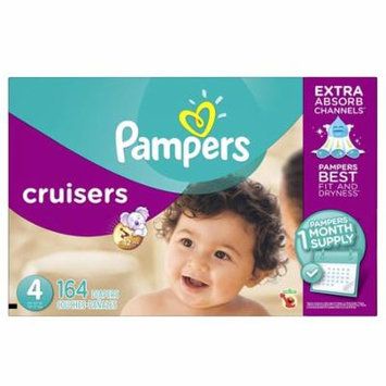 Pampers Cruisers Disposable Diapers Size 4, 164 Count, ECONOMY PACK PLUS
