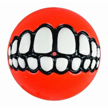 Rogz Fun Dog Treat Ball in various sizes and colors, Medium, Orange