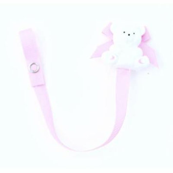 Baby Buddy Bear Pacifier Holder, Pink, 3-Pack
